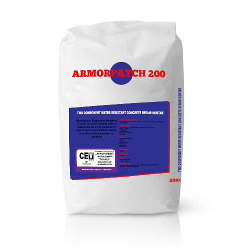 Armorpatch 200-20KG-bag - TWO COMPONENT WATER RESISTANT CONCRETE REPAIR MORTAR